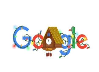 Google's special doodle on New Year's Eve