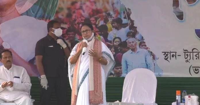 West Bengal Chief Minister Mamata Banerjee attacks bjp from bolpur