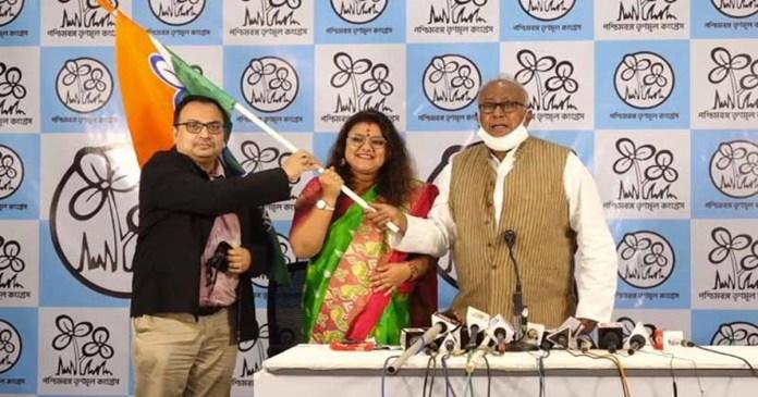 bengal BJP MP Saumitra Khan's wife Sujata Mondal Khan joins Trinamool Congress