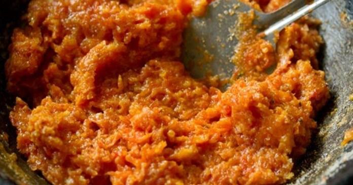 delicious carrot barfi