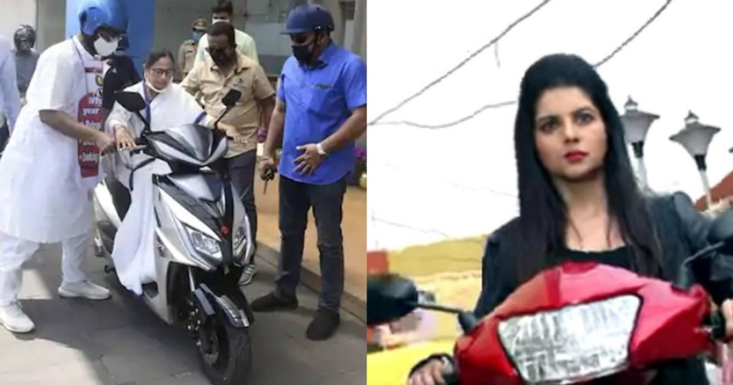 tollywood actress payel sarkar shares her own scooty ride photo