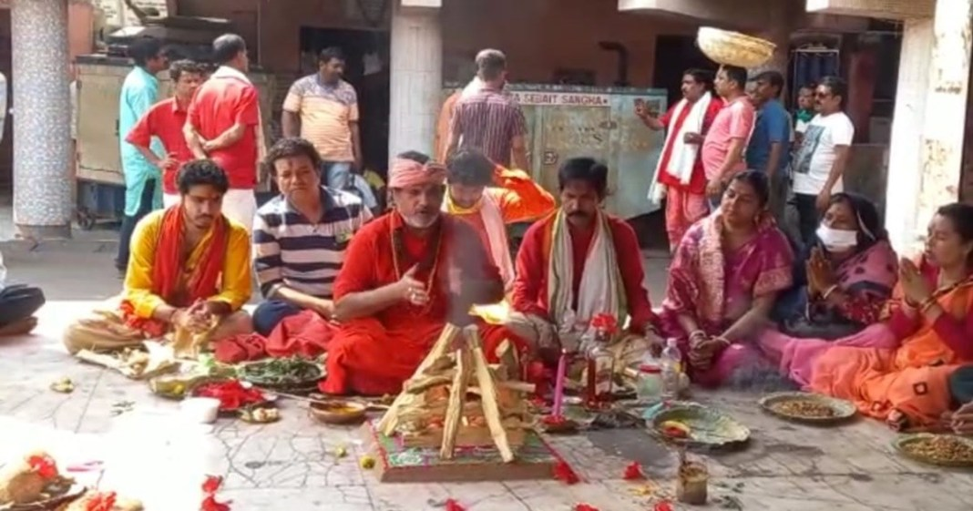 Arranging Worship at Tarapith for the recovery of the Chief Minister