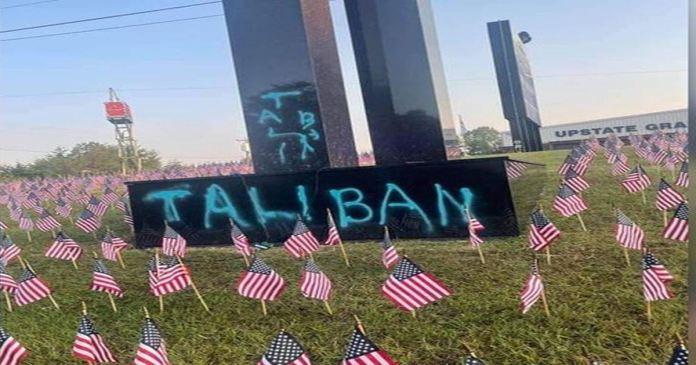 Spray-painted 'Taliban' on 9/11 memorial in South Carolina