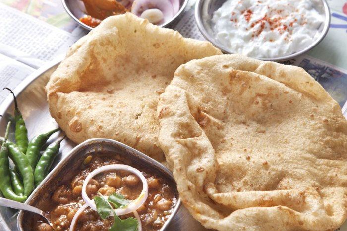 Chole Bhature typifies the diverse culture of Delhi