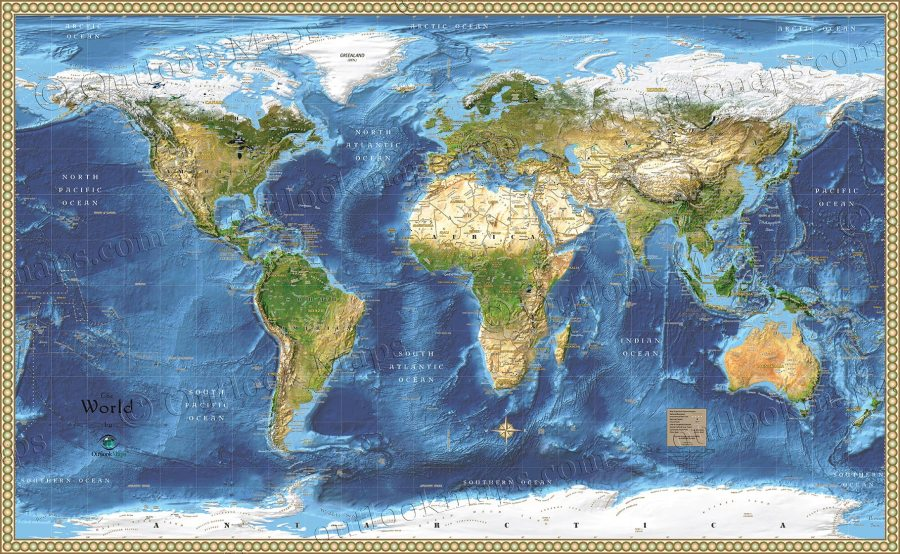 World Satellite Wall Map   Detailed Map with Labels Satellite Image Map of the World