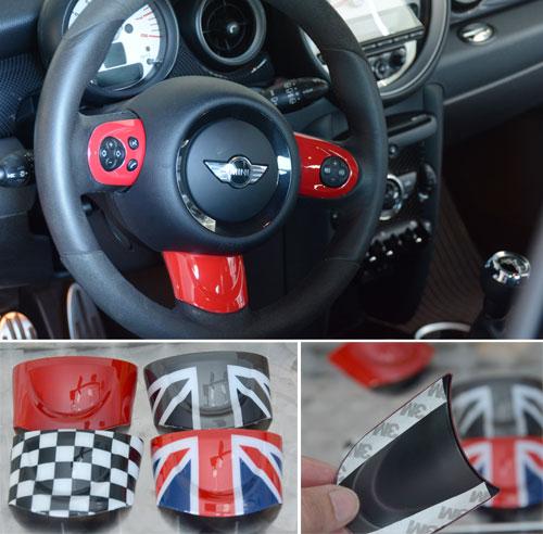 Mini Cooper Accent Steering Wheel Trim Kit R55 R56 R57 R58