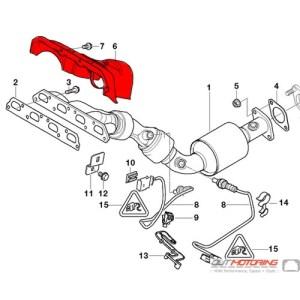 MINI Cooper Exhaust Manifold Heat Shield 51487511704  MINI Cooper Accessories  MINI Cooper Parts