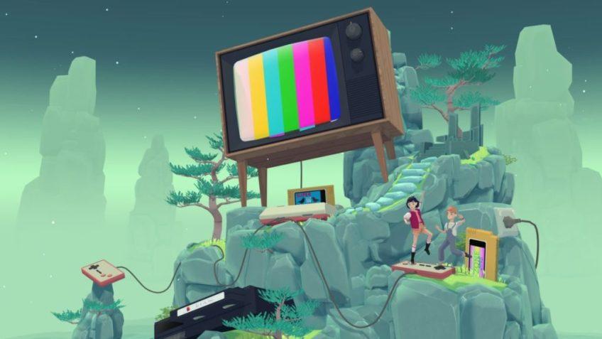 The Gardens Between Giant CRT TV