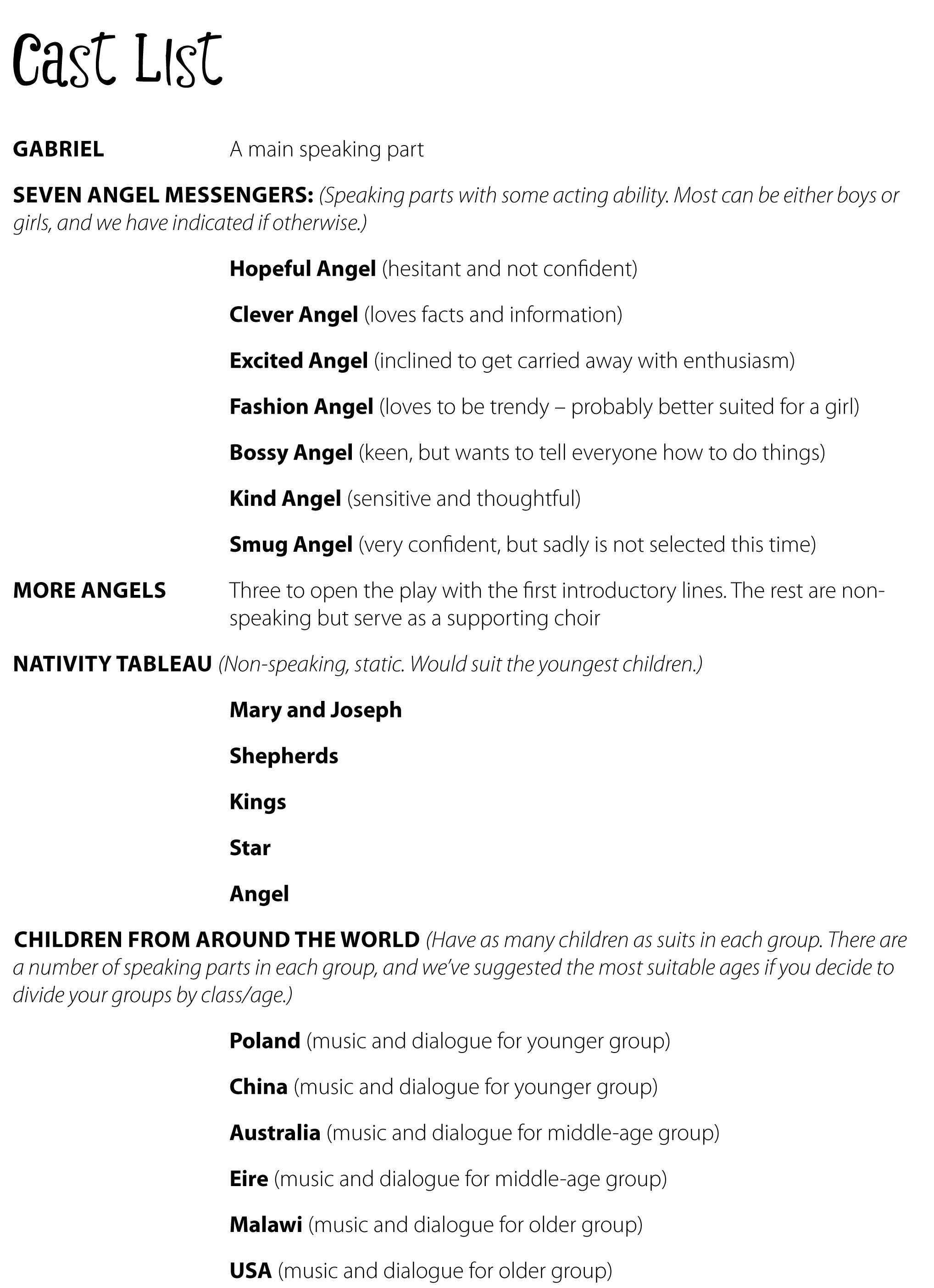 The Best Christmas Carol Lyrics Printable Booklet