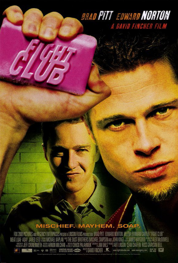 The movie poster for Fight Club