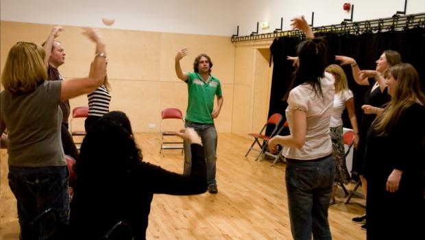 Active Inquiry actors warming up