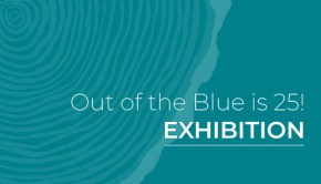 Out of the Blue is 25! exhibition logo