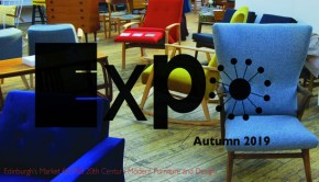 Expo logo imposed on Mid-Century chairs