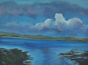 Orkney Solitude 61cm x 46 cm x 4 cm Acrylic on block canvas ready to hang Price: £145.00