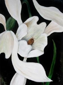 SNOWDROP Acrylic on stretched canvas 41 cm x 31 cm