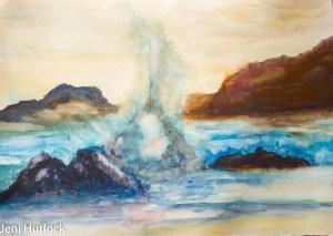 The Water Spout Watercolour 40cm x 30cm