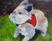 Becky's Bunny Acrylic on canvas Commission painting