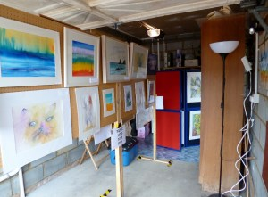 Our Garage Exhibition but much more in garden and inside.