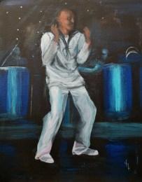 The Sailor's Dance Acrylic on canvas board 50.8 x 40.6cm