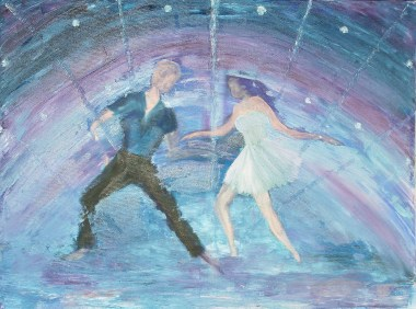 Work in progress using oils on canvas. From Dancing theme.