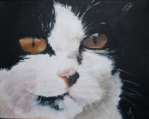 The Mouser acrylic on block canvas