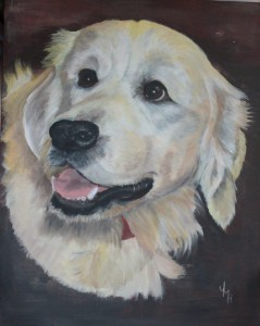 """""""TOBY"""" Acrylic on stretched canvas. SOLD"""