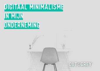 Digitaal Minimalisme ● dagboek van een newbie