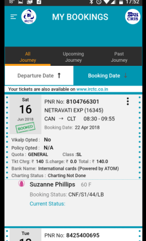 Indian Railways Ticket