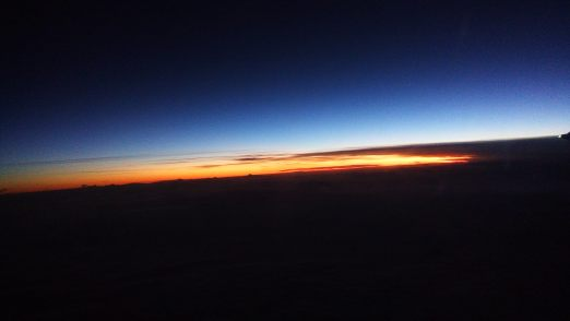 Sunrise flying East