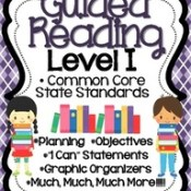 Guided Reading Level I is Posted and on sale through March 2!
