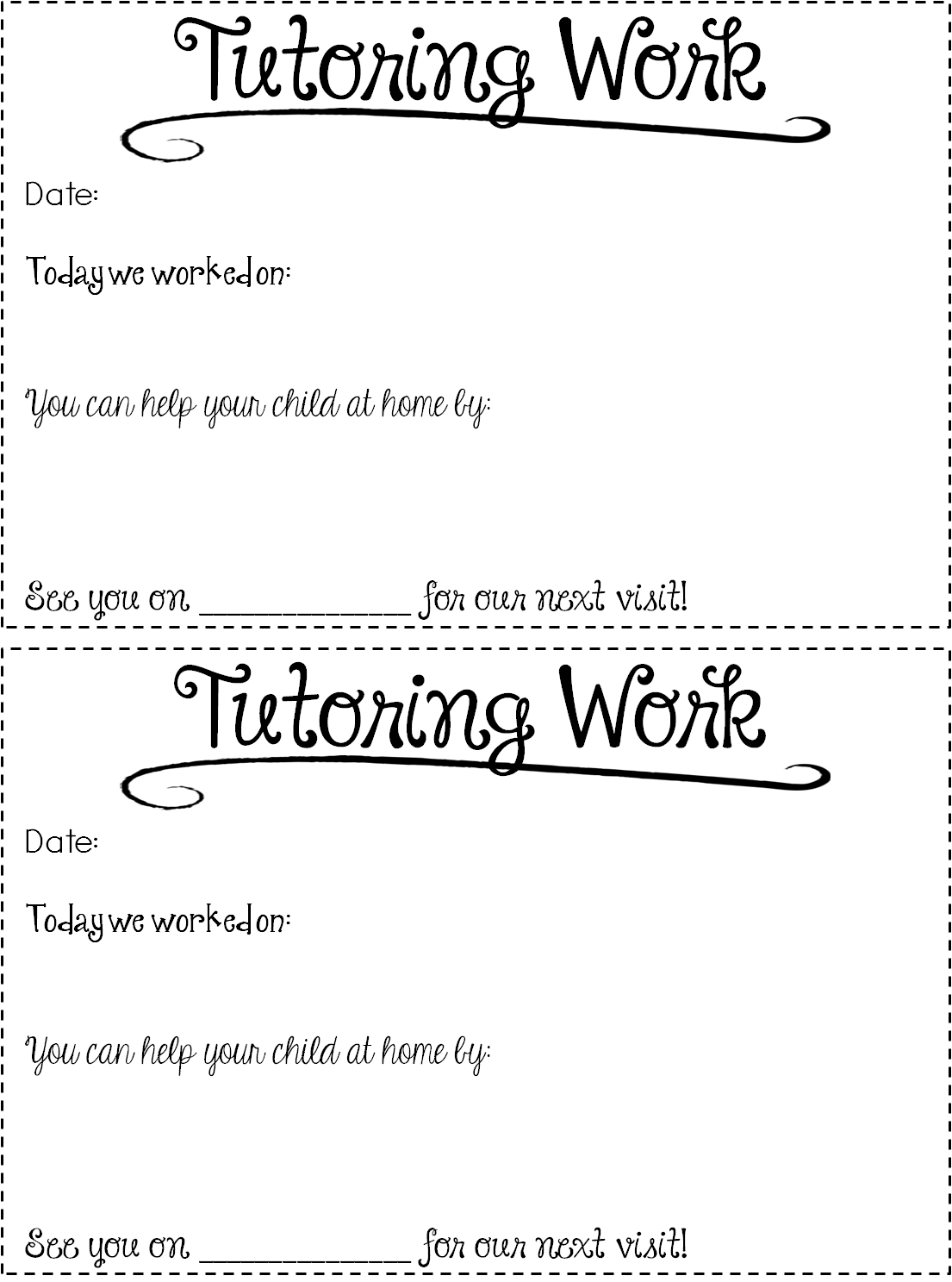 graphic regarding Free Printable Tutoring Forms referred to as Absolutely free Tutoring Types Guidelines! - Out of this World-wide Literacy