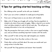 9 Tips for Getting Started Teaching Writing
