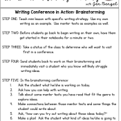 Writing Conferences in Action: Brainstorming