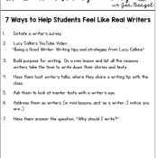7 Ways to Help Students Feel Like Real Writers