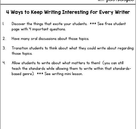 4 Ways to Keep Writing Interesting for Every Writer