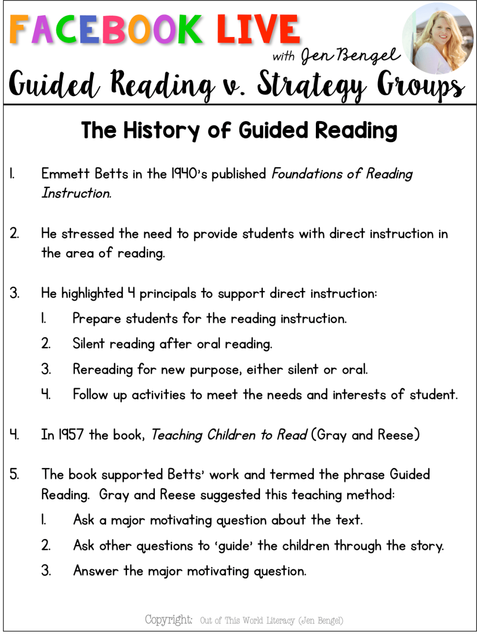 Guided Reading v  Strategy Groups - Out of this World Literacy