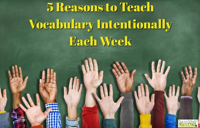 5 Reasons to Teach Vocabulary Each Week