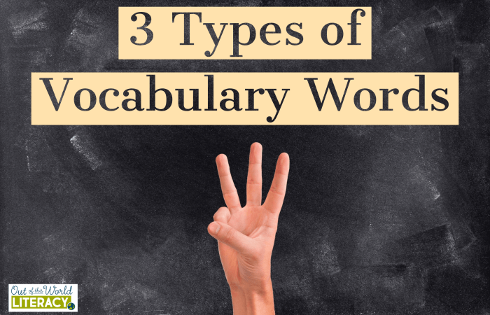 3 Types of Vocabulary Words