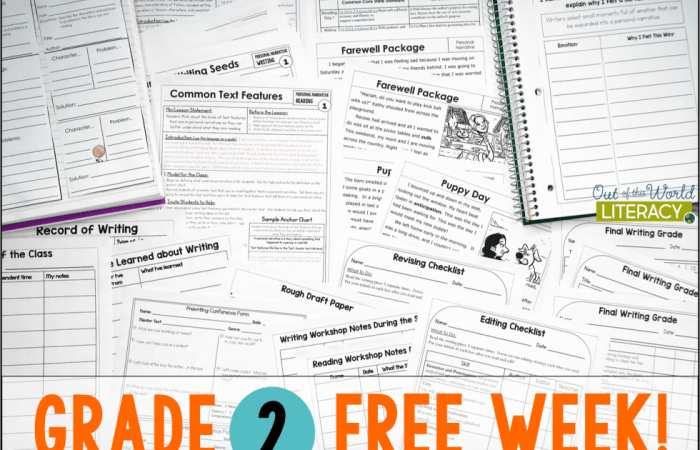 Free Week of Reading and Writing Workshop Lessons!