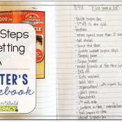 The Steps in Setting Up a Writer's Notebook