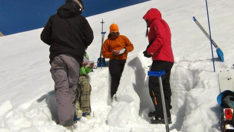 Avalanche de esqui e snowboard