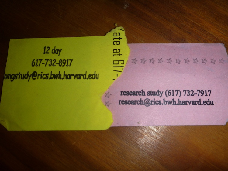 Harvard paid study