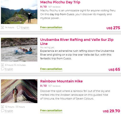 Best tours in Peru
