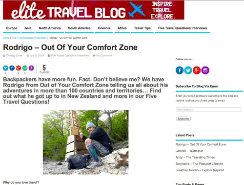 Entrevista Elite Travel Blog