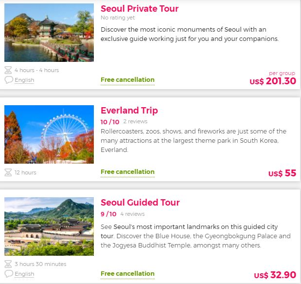 Best attraction South Korea