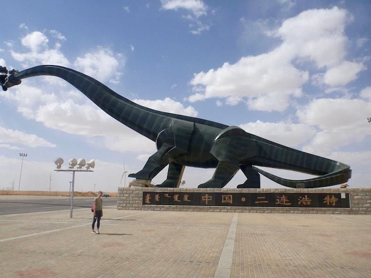 Erlian Erenhot Kissing Dinosaur