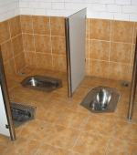 China shared squat toilet