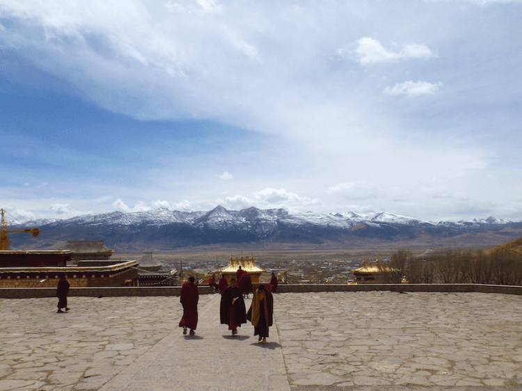 Litang Chode Monastery Monks Tibet China