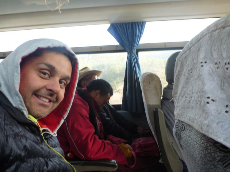 Bus between Shangri-La and Litang in China/Tibet