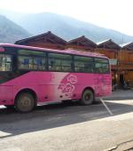 Bus between Shangri-La and Litang in China/Tibet
